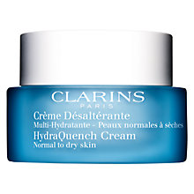 Buy Clarins HydraQuench Cream, Normal to Dry Skin, 50ml Online at johnlewis.com