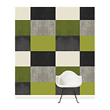 Buy Surface View Green Square Patchwork Wall Mural, 240 x 265cm Online at johnlewis.com