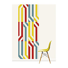 Buy Surface View Stripey Circle Wall Mural, 100 x 265cm Online at johnlewis.com