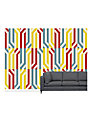 Surface View Stripey Circle Wall Mural, 360 x 265cm
