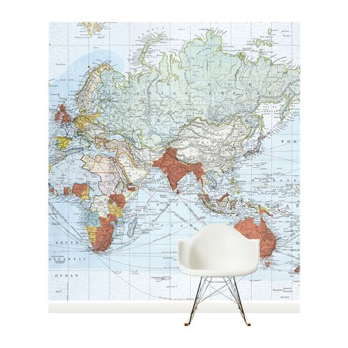 Surface View Surface View Commercial Chart of the World Wall Mural, 240 x 265cm