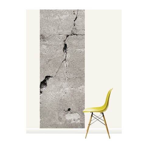 Surface View Surface View Cracked Concrete Wall Mural, 100 x 265cm