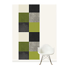 Buy Surface View Green Square Patchwork Wall Mural, 100 x 265cm Online at johnlewis.com