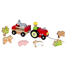 Buy Janod Wooden Tractor and Animal Playset Online at johnlewis.com