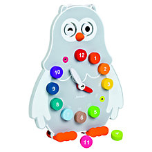 Buy Janod Owly Clock Online at johnlewis.com