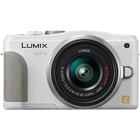 "Buy Panasonic Lumix DMC-GF6 Compact System Camera with 14-42mm Lenses, HD 1080p, 16MP, 3"" LCD Online at johnlewis.com"