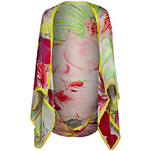 Buy Ted Baker Orchid Print Silk Cape Scarf, Pink Online at johnlewis.com