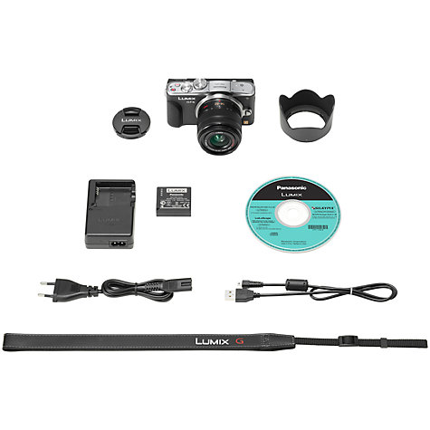 "Buy Panasonic Lumix DMC-GF6 Compact System Camera with 14-42mm Lens, HD 1080p, 16MP, Wi-Fi, NFC, 3"" Tiltable Touch Screen Online at johnlewis.com"