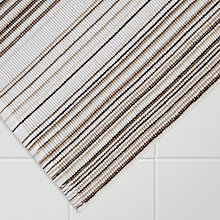 Buy John Lewis Spirit Stripe Bath Mat, Pebble Online at johnlewis.com