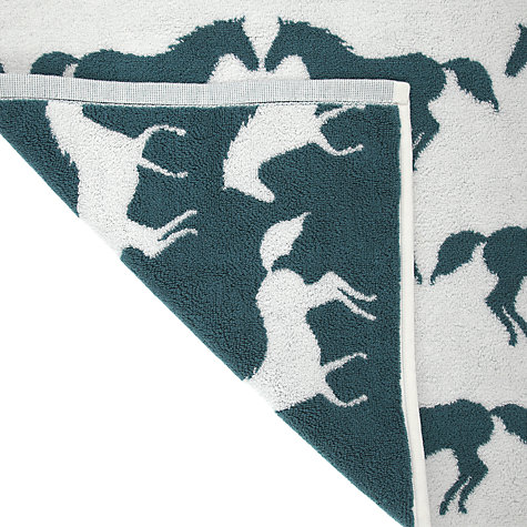 Buy Anorak Kissing Horse Bath Mat, Blue Online at johnlewis.com