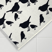 Buy Anorak Kissing Robins Bath Mat, Navy / White Online at johnlewis.com