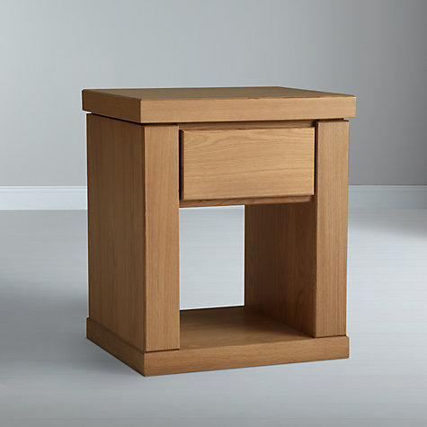 Buy John Lewis Keep Oak 1 Drawer Bedside Tea Tray, Oak Online at johnlewis.com