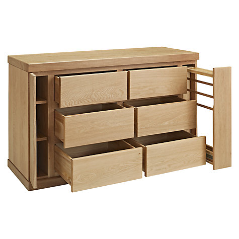 Buy John Lewis Keep Oak 6 Drawer Wide Chest, Oak Online at johnlewis.com