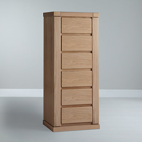 Buy John Lewis Keep Oak 6 Drawer Mirror Chest, Oak Online at johnlewis.com