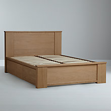 Buy John Lewis Keep Oak Storage Bedstead, Double Online at johnlewis.com