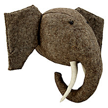Buy Scandi-chic Elephant Wall Mounted Animal Head Online at johnlewis.com