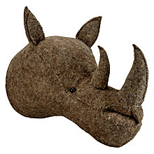 Buy Scandi-chic Rhino Wall Mounted Animal Head Online at johnlewis.com