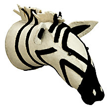 Buy Scandi-chic Zebra Wall Mounted Animal Head Online at johnlewis.com