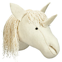 Buy Scandi-chic Unicorn Wall Mounted Animal Head Online at johnlewis.com