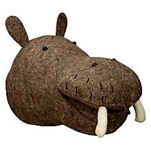 Buy Scandi-chic Hippo Wall Mounted Animal Head Online at johnlewis.com