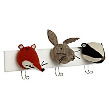 Buy Scandi-chic Woodland Animal Coat Hooks Online at johnlewis.com