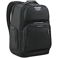"Buy Briggs & Riley 15.6"" Laptop and iPad Backpack, Black Online at johnlewis.com"