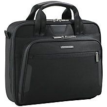 Buy Briggs & Riley KB105-4 Business Small Slim Portfolio, Black Online at johnlewis.com