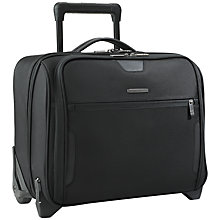 "Buy Briggs & Riley KR251-4 Business 15.6"" Laptop 2-Wheel Mobile Office, Black Online at johnlewis.com"