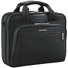 "Buy Briggs & Riley KB100-4 Business 13"" Laptop Briefcase, Black Online at johnlewis.com"