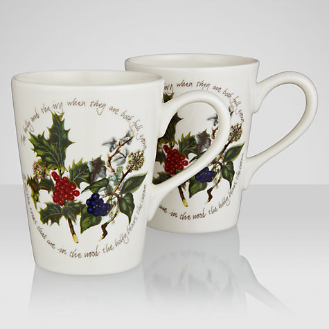 Buy Portmeirion The Holly & The Ivy Mini, Set of 2 Online at johnlewis.com