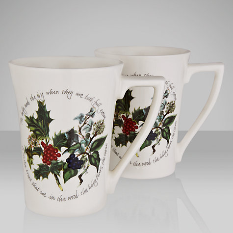 Buy Portmeirion The Holly & The Ivy Mugs, Set of 2 Online at johnlewis.com