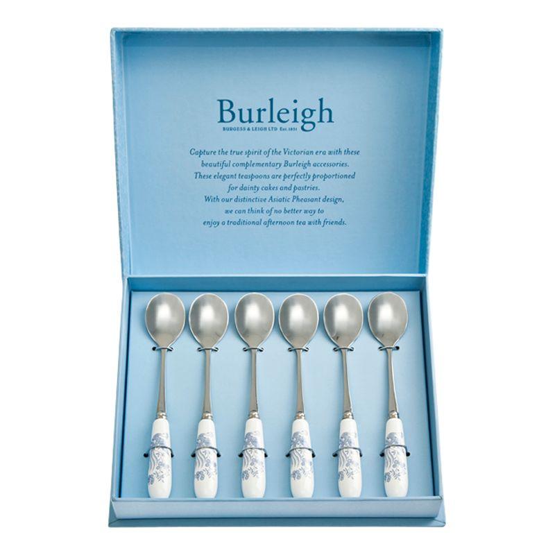 Burleigh Burleigh Asiatic Pheasant Spoons, Set of 6