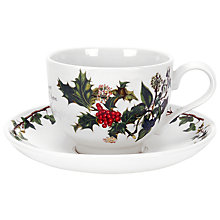 Buy Portmeirion The Holly & The Ivy Tea Cup and Saucer Online at johnlewis.com