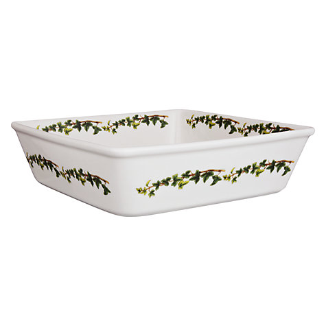 Buy Portmeirion The Holly & The Ivy Square Dish Online at johnlewis.com