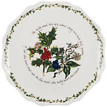 Buy Portmeirion The Holly & The Ivy Scalloped Platter Online at johnlewis.com