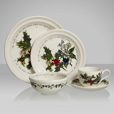 Buy Portmeirion The Holly and The Ivy Salad Plate Online at johnlewis.com