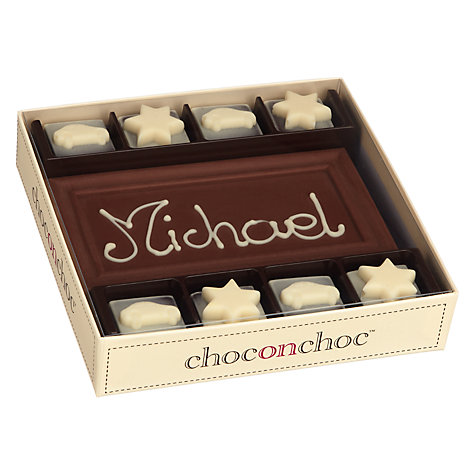 Buy Choc on Choc Personalised 8 Block Milk Chocolate Bar, 160g Online at johnlewis.com