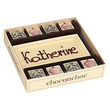 Buy Choc on Choc Personalised 8 Block Afternoon Tea White Chocolate Bar, 160g Online at johnlewis.com
