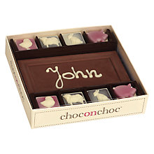 Buy Choc on Choc Personalised 8 Block Farmyard Milk Chocolate Bar, 160g Online at johnlewis.com