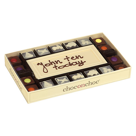 Buy Choc on Choc Personalised 10 Block Sweetie Kids White Chocolate Bar, 320g Online at johnlewis.com