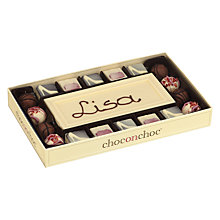 Buy Choc on Choc Personalised 10 Block White Chocolate Bar and Truffles, 320g Online at johnlewis.com