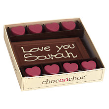 Buy Choc on Choc Personalised 8 Block Hearts Milk Chocolate Bar, 160g Online at johnlewis.com