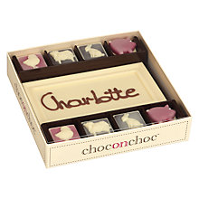 Buy Choc on Choc Personalised 8 Block Farmyard White Chocolate Bar, 160g Online at johnlewis.com