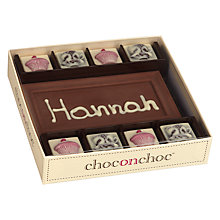 Buy Choc on Choc Personalised Afternoon Tea 8 Block Milk Chocolate Bar, 160g Online at johnlewis.com