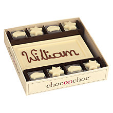 Buy Choc on Choc Personalised 8 Block WhiteChocolate Bar, 160g Online at johnlewis.com