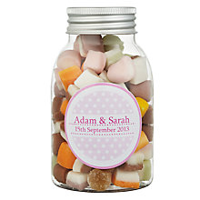 Buy Fine Confectionery Company Personalised Dolly Mix Spotty Jar, Pack of 25, Medium Online at johnlewis.com