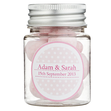 Buy Fine Confectionery Company Personalised Bon Bons Spotty Jar, Pack of 25, Small Online at johnlewis.com