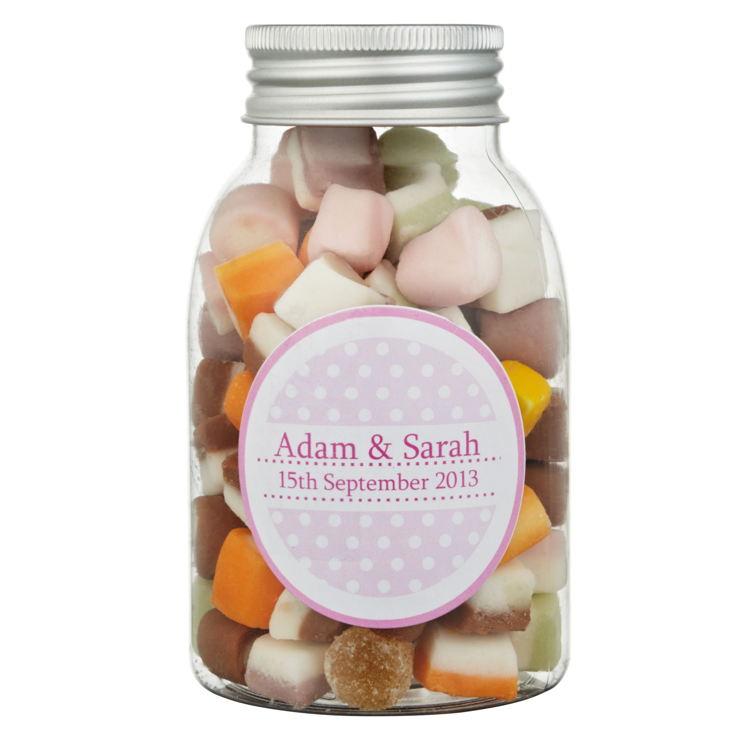 Fine Confectionery Company Fine Confectionery Company Personalised Dolly Mix Spotty Jar, Pack of 25, Large
