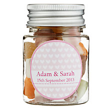 Buy Fine Confectionery Company Personalised Dolly Mix Hearts Jar, Small Online at johnlewis.com