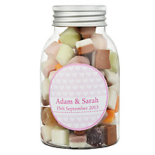 Buy Fine Confectionery Company Personalised Dolly Mix Hearts Jar, Pack of 25, Medium Online at johnlewis.com